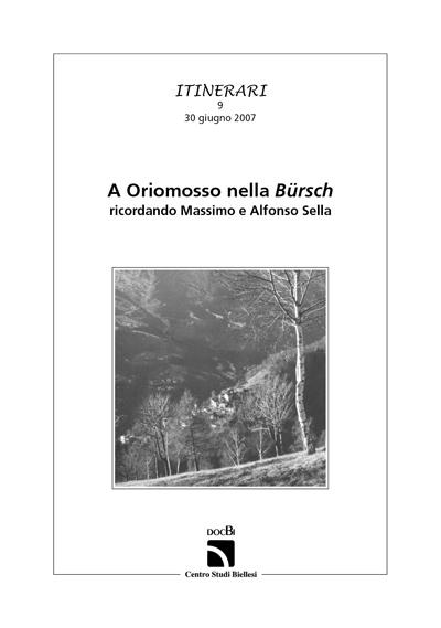 A Oriomosso nella Bürsch ricordando Massimo e Alfonso Sella