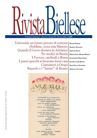Rivista Biellese - Gennaio 2012
