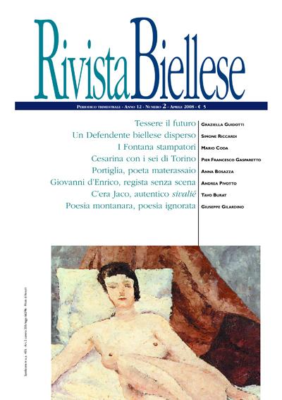 Rivista Biellese - Aprile 2008
