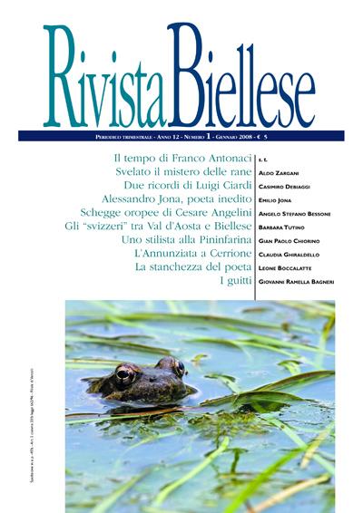 Rivista Biellese - Gennaio 2008