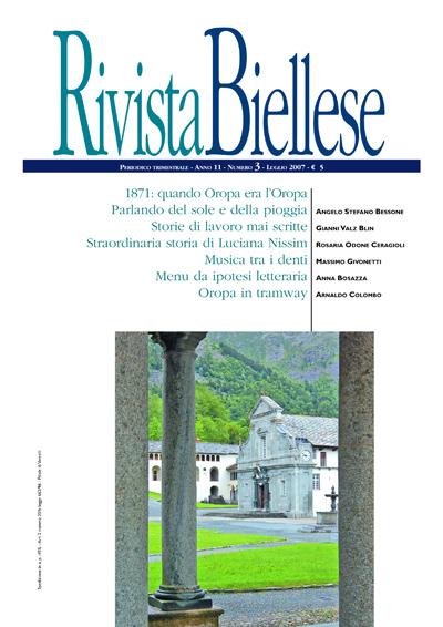 Rivista Biellese - Luglio 2007
