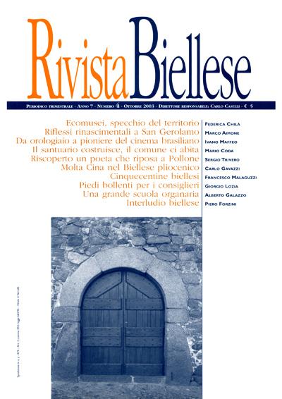 Rivista Biellese - Ottobre 2003