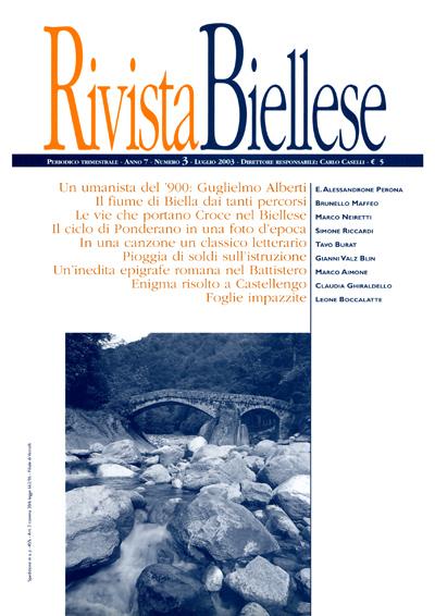 Rivista Biellese - Luglio 2003