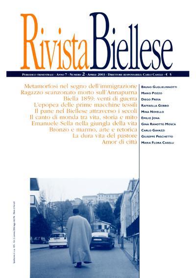 Rivista Biellese - Aprile 2003