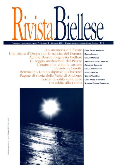 Rivista Biellese - Gennaio 2003