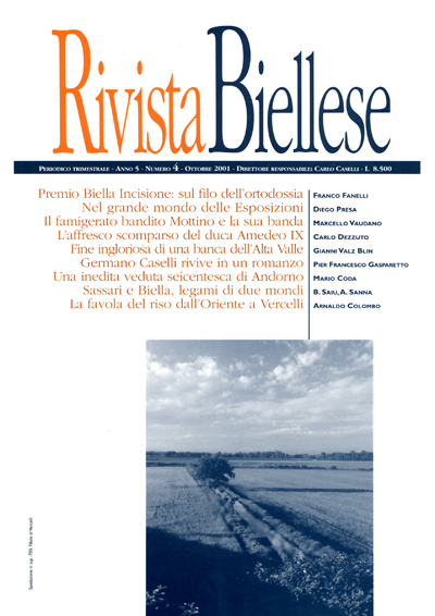 Rivista Biellese - Ottobre 2001
