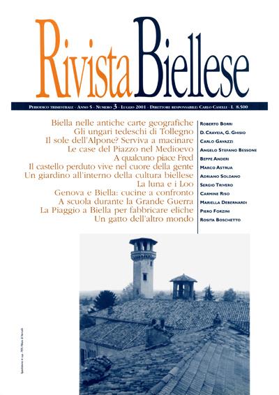 Rivista Biellese - Luglio 2001