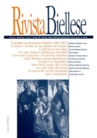 Rivista Biellese - Ottobre 2000