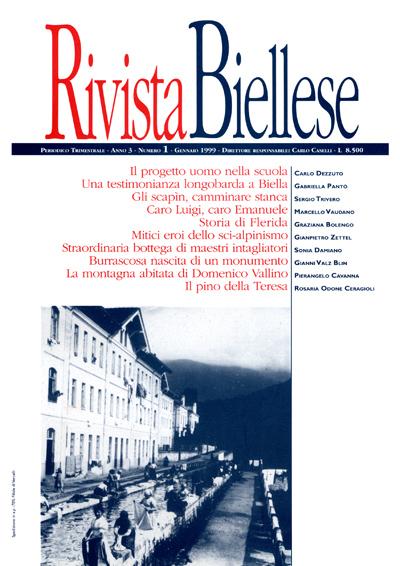 Rivista Biellese - Gennaio 1999