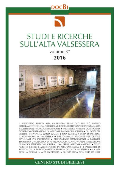 Studi e ricerche sull'Alta Valsessera - vol. III