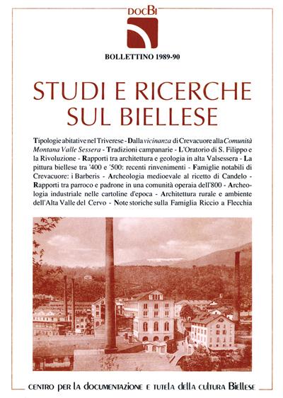Studi e ricerche sul Biellese - Bollettino 1989-90