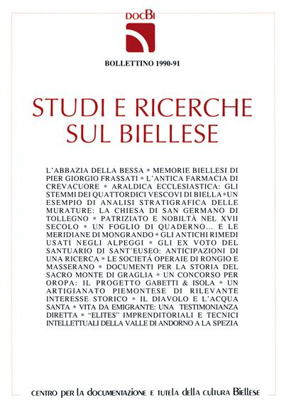 Studi e ricerche sul Biellese - Bollettino 1990-91