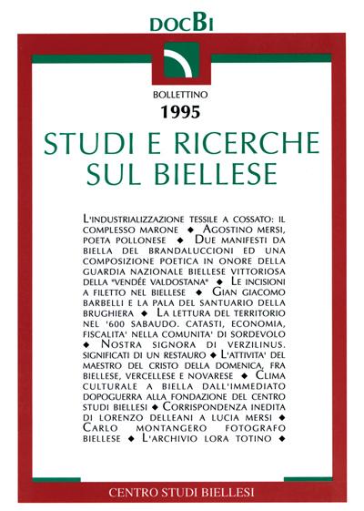 Studi e ricerche sul Biellese - Bollettino 1995