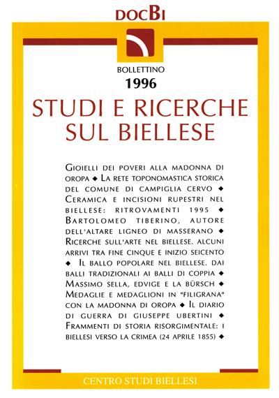 Studi e ricerche sul Biellese - Bollettino 1996