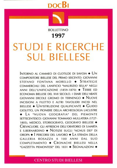 Studi e ricerche sul Biellese - Bollettino 1997