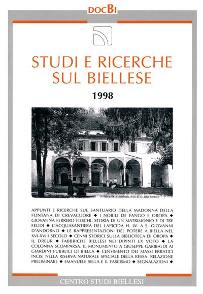 Studi e ricerche sul Biellese - Bollettino 1998