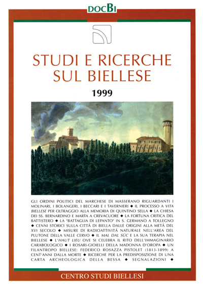 Studi e ricerche sul Biellese - Bollettino 1999