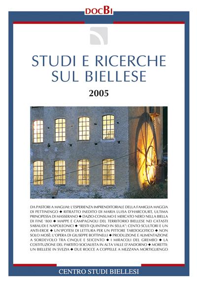 Studi e ricerche sul Biellese - Bollettino 2005