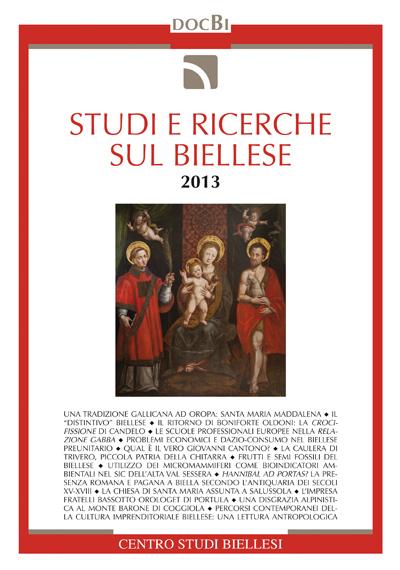 Studi e ricerche sul Biellese - Bollettino 2013