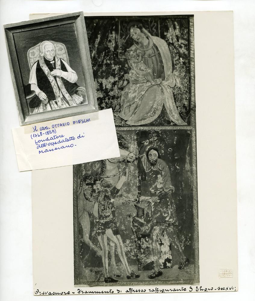 <b>Materiale di studio di Vittorino Barale. Iconografia varia: un quadro, immagini di affreschi.</b><br />