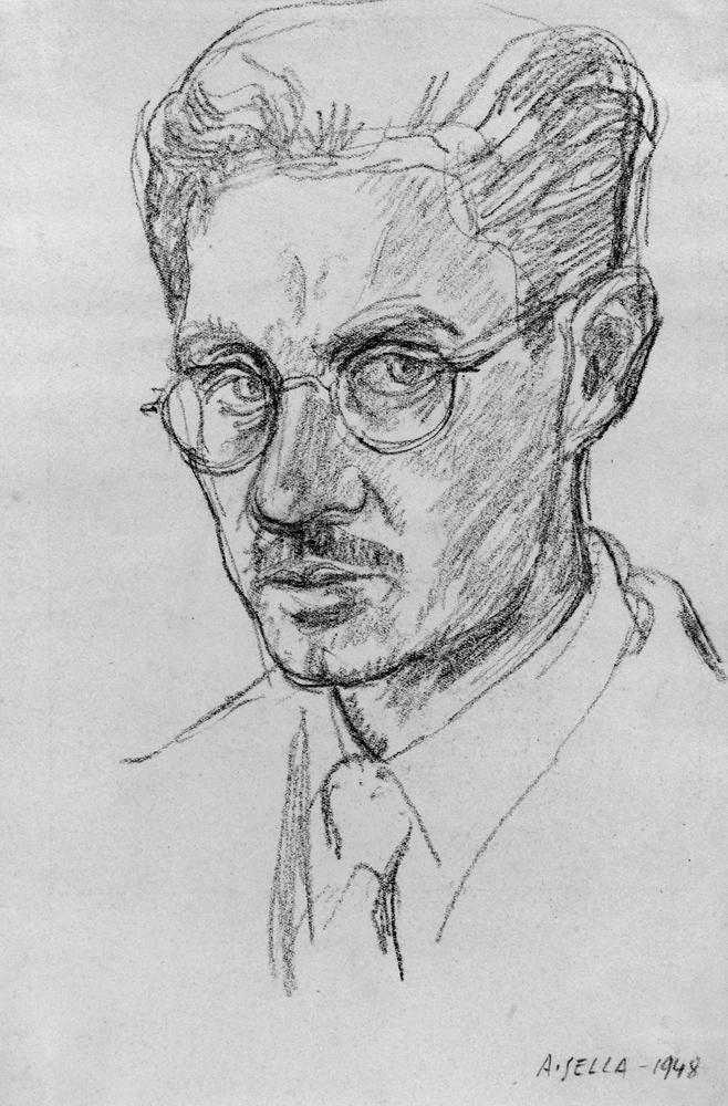 <b>Alfonso Sella, autoritratto, 1948</b><br />(collezione privata)