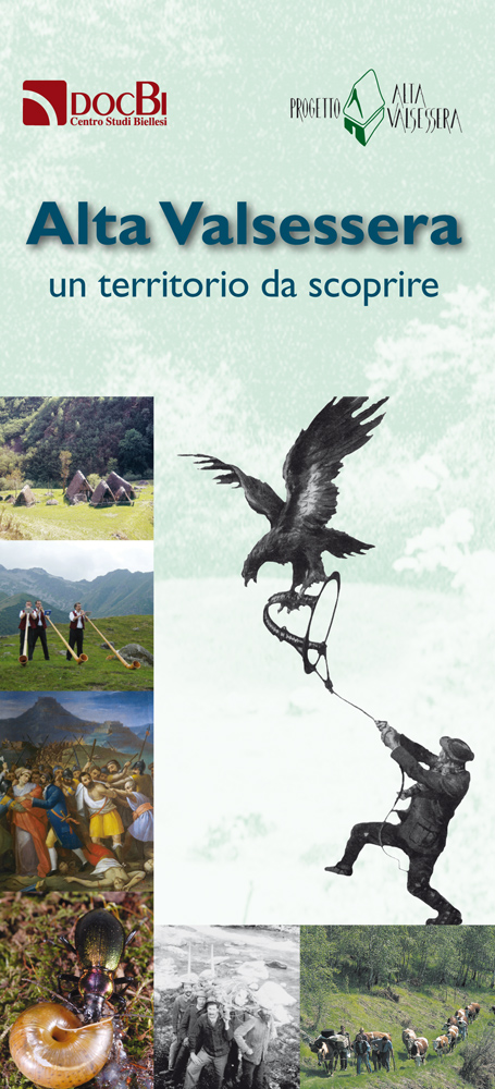 <b>Copertina del pieghevole dedicato al progetto di ricerca sull&#039;Alta Valsessera pubblicato nel 2013</b><br />
