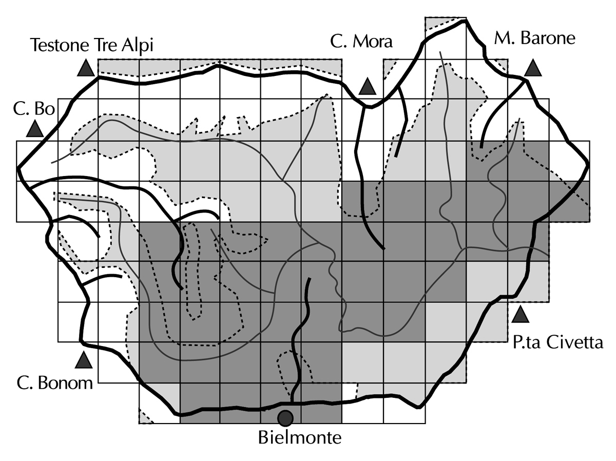 <b>Alta Valsessera, censimento dell&#039;avifauna nidificante</b><br />esempio di scheda di censimento (Gufo reale)