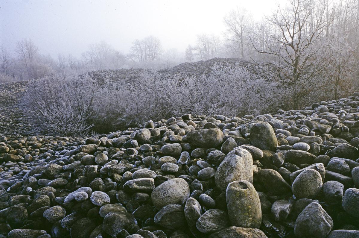 <b>Cumuli di discarica della miniera nel Terrazzo superiore</b><br />foto Alberto Vaudagna