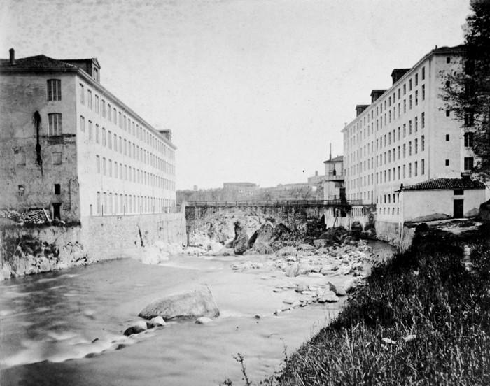 <b>Biella, &quot;lanificio Bossù&quot;</b><br />foto Vittorio Besso, 1880 circa (archivio DocBi)