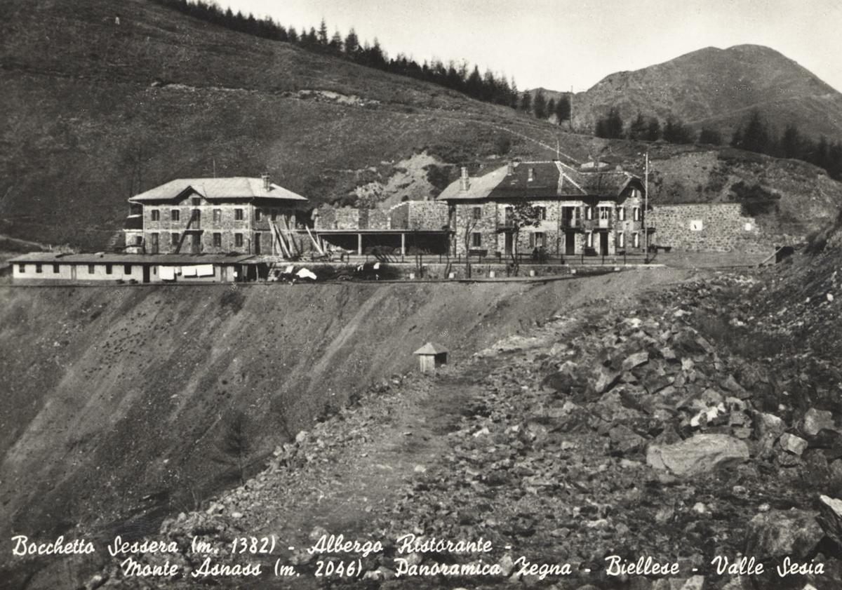 <b>Il Bocchetto Sessera in una cartolina d&#039;epoca</b><br />collezione privata