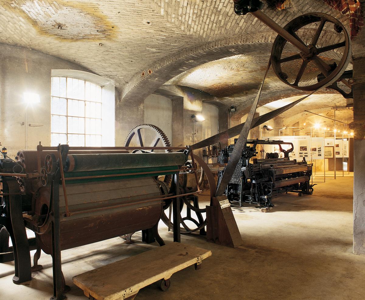 <b>Pray Biellese, la &quot;Fabbrica della ruota&quot;; allestimento interno</b><br />foto Fabrizio Lava