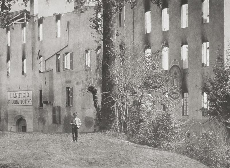 <b>Pray, Lanificio Lora Totino, danni causati dall&#039;incendio, 1895</b><br />