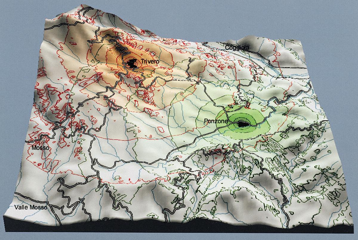 <b>Triverese, ricostruzione del paesaggio sonoro negli anni &#039;60</b><br />Biella, studio Geos, 2000