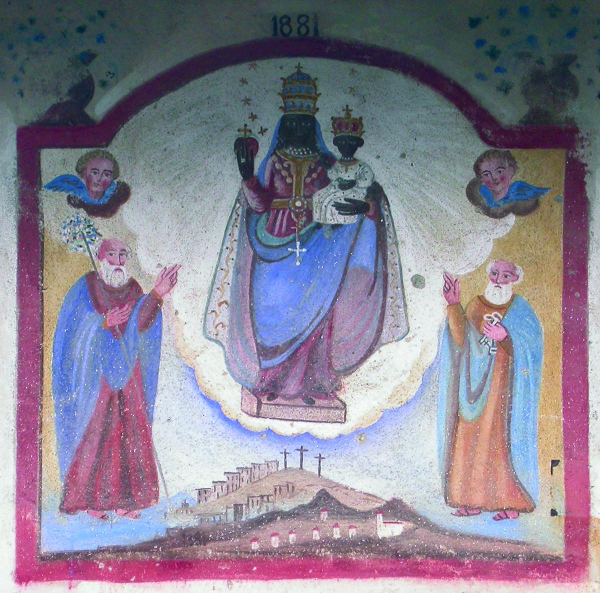 <b>Madonna di Oropa e santi</b><br />(Pralungo, via per fraz. Valle, cascina Balma)