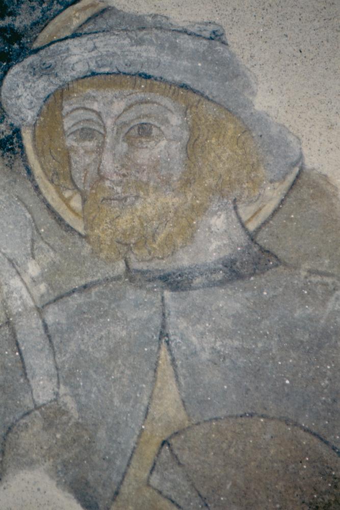 <b>Tollegno, chiesa di San Germano: affresco raffigurante San Lucio</b><br />