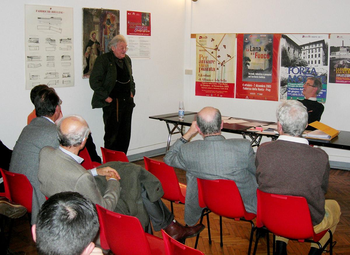 <b>Gustavo Buratti e Marcello Vaudano in occasione di una conferenza presso la sede di Biella del DocBi</b><br />