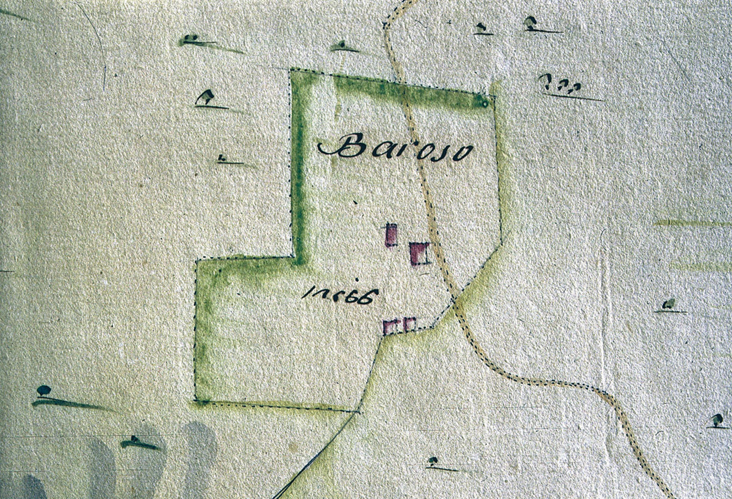 <b>Alta Valsessera, mappa catastale dell&#039;alpe Baroso</b><br />
